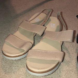 2 pair of sandals for $20 originally $44.97 each